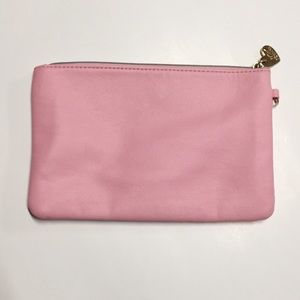 BETSEY JOHNSON • Pink Leather Makeup Clutch Bag